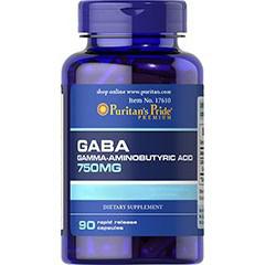GABA (Gamma Aminobutyric Acid) 750 mg