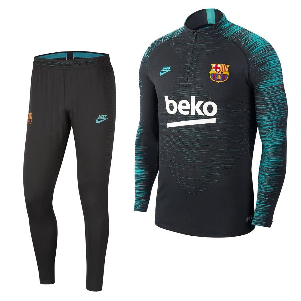 Nike FC Barcelona VaporKnit Strike Trainingspak 2019-2020 Zwart Grijs