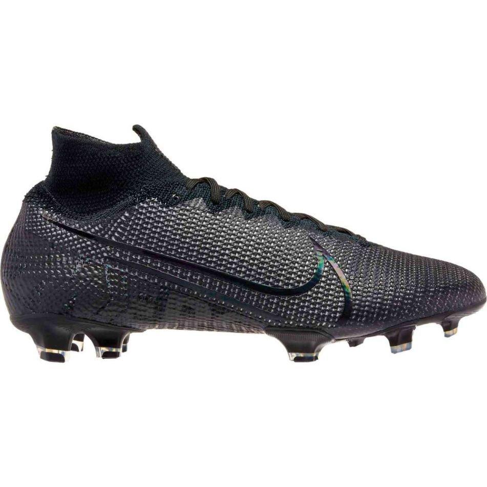 Nike Mercurial Superfly 7 ELITE FG Voetbalschoenen Zwart Metallic Zilvergrijs