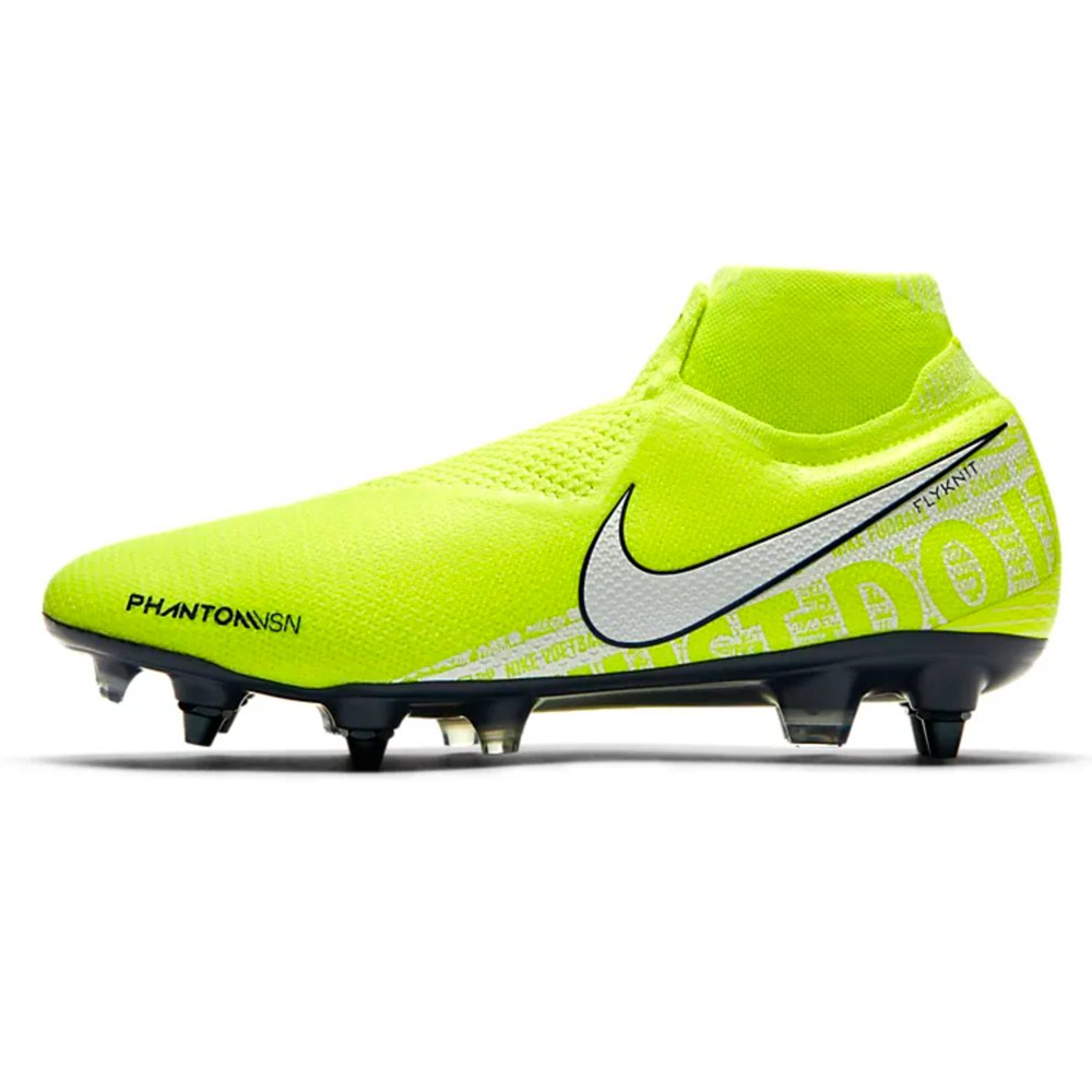 Nike PHANTOM VSN ELITE DF SG PRO Voetbalschoenen Anti-Clog Volt Wit