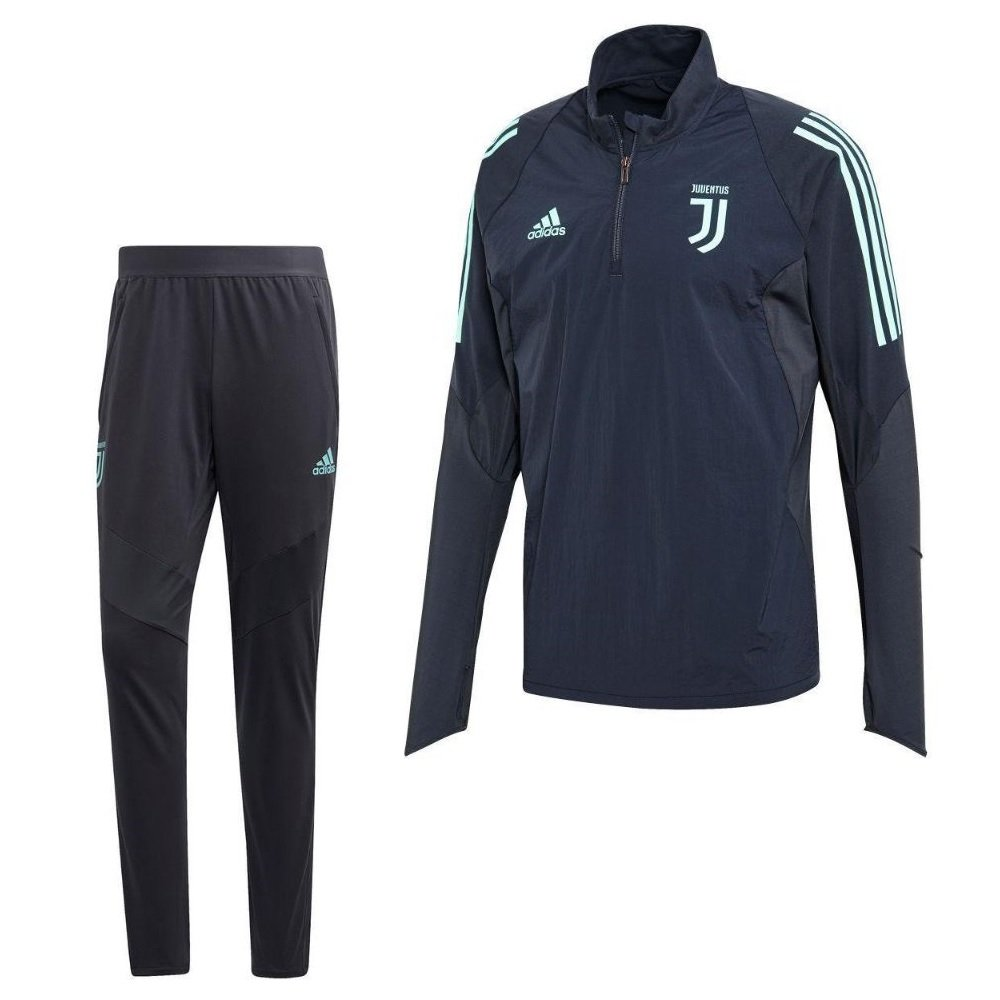 adidas Juventus Top Trainingspak Champions League 2019-2020 Grijs Blauw