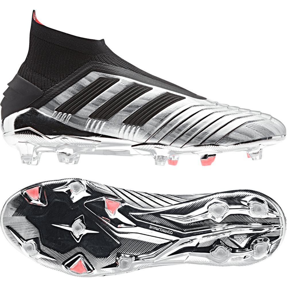 adidas PREDATOR 19+ FG Voetbalschoenen Zilver Zwart Rood